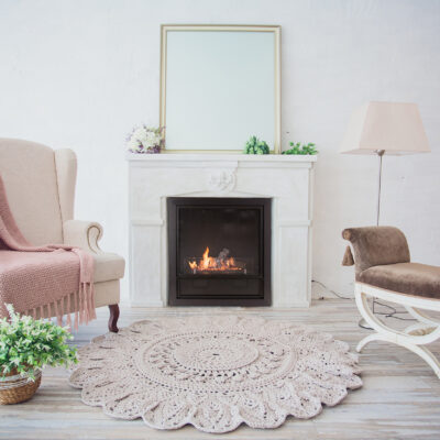 interior antiques and old stone wall fireplace vintage